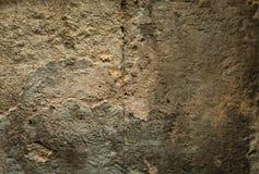 Ραγισμένο παλαιό υπόβαθρο τοίχων πετρών, σύσταση πετρών grunge κοντά επάνω Στοκ εικόνα με δικαίωμα ελεύθερης χρήσης
