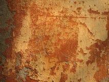 Ραγισμένο, σκουριασμένο παλαιό χρώμα στο α Στοκ Εικόνες