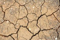 Ραγισμένο χώμα αργίλου Στοκ φωτογραφίες με δικαίωμα ελεύθερης χρήσης