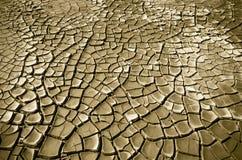 ραγισμένο χώμα ερήμων Στοκ Φωτογραφία