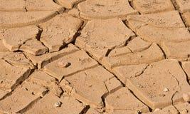 ραγισμένο χώμα ερήμων Στοκ Εικόνες