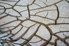 Ραγισμένο χώμα και ξηρασία Στοκ Εικόνες