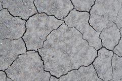 Ραγισμένο χώμα στη γη Στοκ Φωτογραφίες