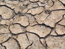 ραγισμένο χώμα Στοκ εικόνα με δικαίωμα ελεύθερης χρήσης