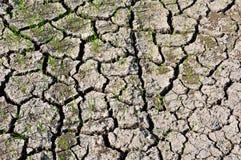 ραγισμένο χώμα Στοκ Εικόνα