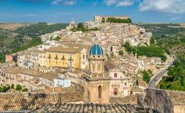 Ραγκούσα, διάσημη μπαρόκ πόλη στη Σικελία, Ιταλία στοκ εικόνα