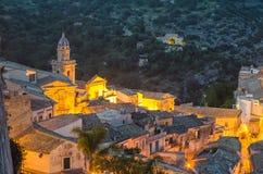 Ραγκούσα Ibla (Σικελία) το βράδυ Στοκ Φωτογραφία