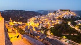 Ραγκούσα Ibla (Σικελία) το βράδυ Στοκ εικόνα με δικαίωμα ελεύθερης χρήσης