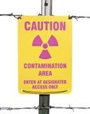 ραδιενεργό σημάδι μόλυνσης προσοχής περιοχής Στοκ εικόνα με δικαίωμα ελεύθερης χρήσης