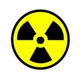 Ραδιενεργό σημάδι Στοκ φωτογραφία με δικαίωμα ελεύθερης χρήσης