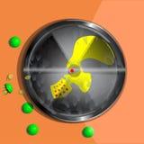Ραδιενεργό σύμβολο μόλυνσης διανυσματική απεικόνιση