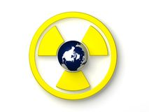 ραδιενεργό σύμβολο Στοκ εικόνες με δικαίωμα ελεύθερης χρήσης