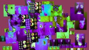 Ραδιολογικό ιώδες διαγνωστικό κολάζ χρώματος απεικόνιση αποθεμάτων