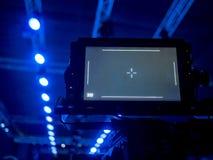 Ραδιοφωνική μετάδοση TV του γεγονότος από τη αίθουσα συναυλιών ή τη επίδειξη μόδας στοκ εικόνες