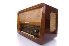 ραδιο αναδρομικό λευκό Στοκ Εικόνες