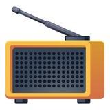 Ραδιο εικονίδιο κεραιών, ύφος κινούμενων σχεδίων ελεύθερη απεικόνιση δικαιώματος