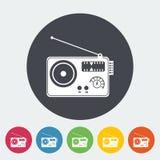 Ραδιο ενιαίο εικονίδιο Στοκ εικόνες με δικαίωμα ελεύθερης χρήσης
