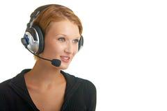 ραδιο στούντιο κοριτσιώ&n στοκ εικόνες με δικαίωμα ελεύθερης χρήσης