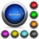 Ραδιο σύνολο κουμπιών δεκτών Στοκ εικόνα με δικαίωμα ελεύθερης χρήσης