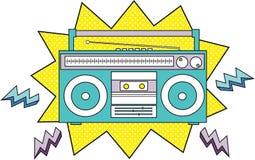 ραδιόφωνο κασετών Στοκ εικόνα με δικαίωμα ελεύθερης χρήσης