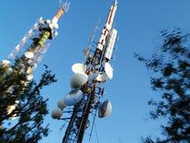 ραδιόφωνο κεραιών στοκ φωτογραφία