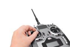 ραδιόφωνο χεριών ελέγχου στοκ εικόνες