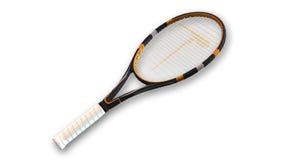 Ρακέτα αντισφαίρισης, αθλητικός εξοπλισμός που απομονώνεται στο λευκό διανυσματική απεικόνιση