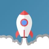 Ρακέτα απογείωσης - επίπεδες σχέδιο/απεικόνιση διανυσματική απεικόνιση
