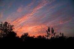 δραματικό ηλιοβασίλεμα Στοκ Φωτογραφία