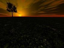 δραματικό ηλιοβασίλεμα Στοκ φωτογραφίες με δικαίωμα ελεύθερης χρήσης
