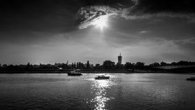 δραματικό ηλιοβασίλεμα Στοκ Φωτογραφίες