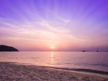 δραματικό ηλιοβασίλεμα &p Στοκ Εικόνα