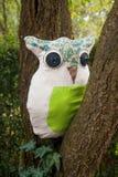 Ραμμένο μηχανή μαξιλάρι owlet DIY Στοκ φωτογραφία με δικαίωμα ελεύθερης χρήσης