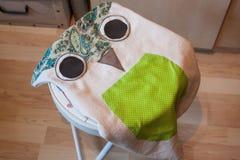 Ραμμένο μηχανή μαξιλάρι owlet DIY Στοκ Φωτογραφίες