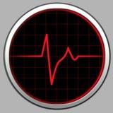 ραντάρ καρδιογραφημάτων Στοκ φωτογραφία με δικαίωμα ελεύθερης χρήσης