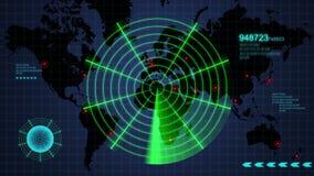 Ραντάρ παγκόσμιων χαρτών διανυσματική απεικόνιση