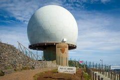 Ραντάρ Pico do Arieiro, νησί της Μαδέρας Στοκ εικόνα με δικαίωμα ελεύθερης χρήσης