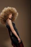 Ραπτικές Haute Γυναίκα μόδας με φανταχτερό Hairstyle στοκ φωτογραφία με δικαίωμα ελεύθερης χρήσης