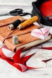 Ραπτική και ράψιμο Στοκ φωτογραφία με δικαίωμα ελεύθερης χρήσης