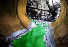 Ραδιενεργά απόβλητα αποχέτευσης Στοκ Εικόνα