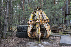 Ραδιενεργά εργαλεία σε Pripyat, Ουκρανία Στοκ φωτογραφία με δικαίωμα ελεύθερης χρήσης