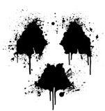 ραδιενεργό σύμβολο splatter μελανιού Στοκ φωτογραφία με δικαίωμα ελεύθερης χρήσης