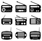 Ραδιο εικονίδια Στοκ Φωτογραφίες