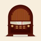 Ραδιο εκλεκτής ποιότητας σχέδιο Στοκ Εικόνα