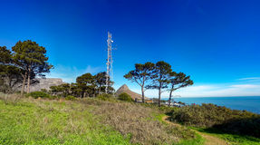 Ραδιο ιστός Hill σημάτων Στοκ Εικόνα