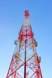 Ραδιο κεραία τηλεπικοινωνιών Στοκ Εικόνες