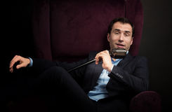 Ραδιο παρουσιαστής Στοκ φωτογραφία με δικαίωμα ελεύθερης χρήσης