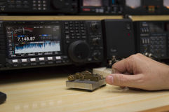 Ραδιο χειριστής Στοκ Φωτογραφία