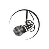 Ραδιο mic απεικόνιση Στοκ Εικόνες