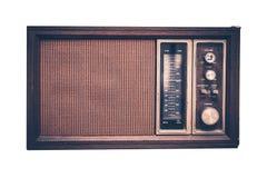 Ραδιόφωνο που απομονώνεται εκλεκτής ποιότητας στοκ φωτογραφία